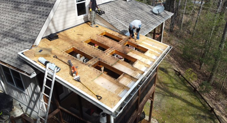 Skylights Being Replaced